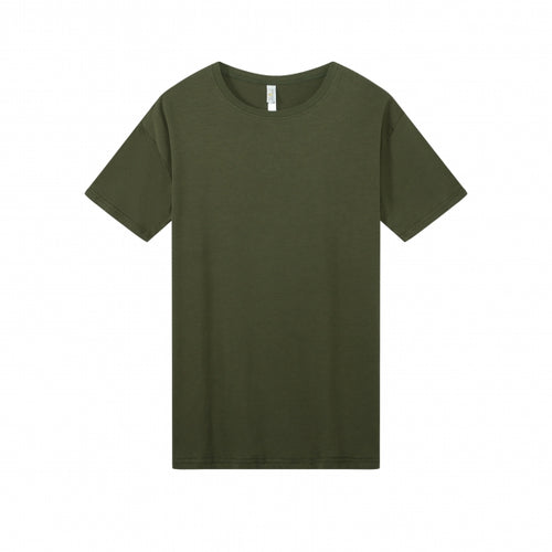 MENS Bamboo Cotton S/S Tee | UPF Protection Shirt - Khaki Green