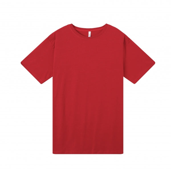 MENS Bamboo Cotton S/S Tee | UPF Protection Shirt - Red