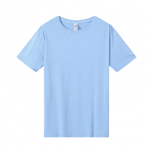 MENS Bamboo Cotton S/S Tee | UPF Protection Shirt - Sky Blue