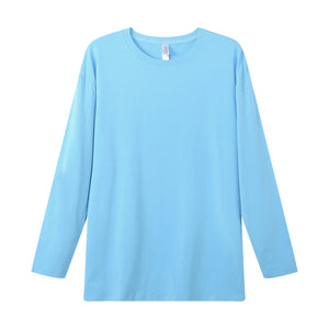 MENS Bamboo Cotton L/S Tee | UPF Protection Shirt - French Blue