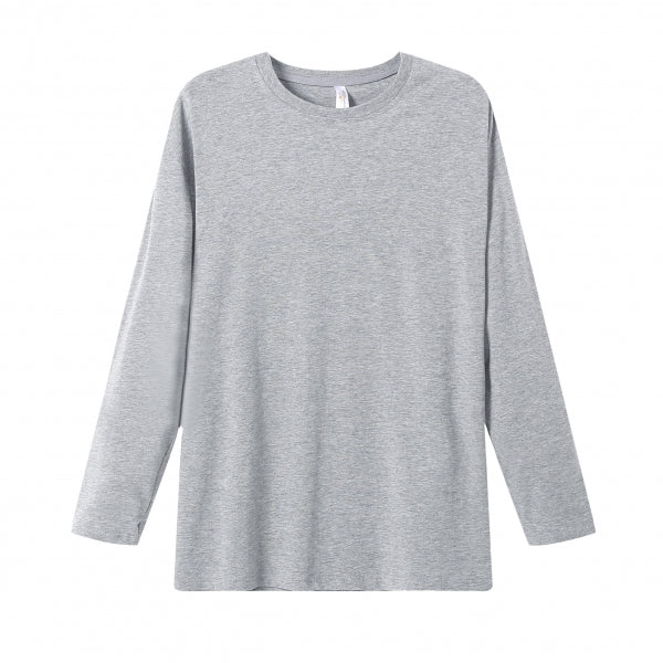 MENS Bamboo Cotton L/S Tee | UPF Protection Shirt - Heather Grey