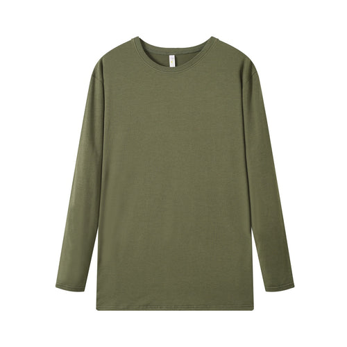 MENS Bamboo Cotton L/S Tee | UPF Protection Shirt - Khaki Green