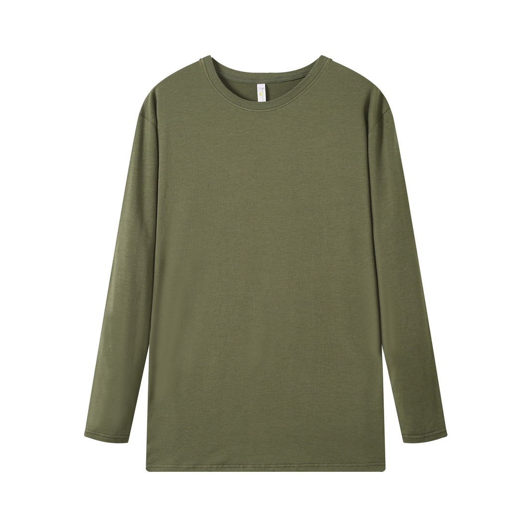 YOUTH Bamboo Cotton L/S Tee | UPF Protection Shirt - Khaki Green