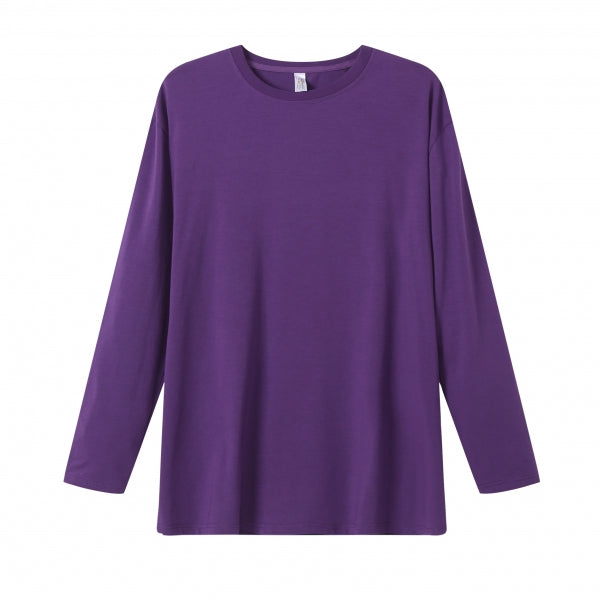 MENS Bamboo Cotton L/S Tee | UPF Protection Shirt - Purple