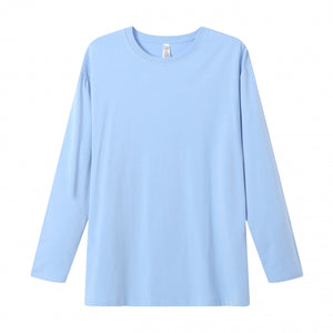 MENS Bamboo Cotton L/S Tee | UPF Protection Shirt - Sky Blue