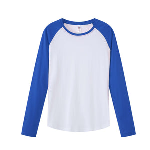 MENS Raglan L/S Top - Royal Blue