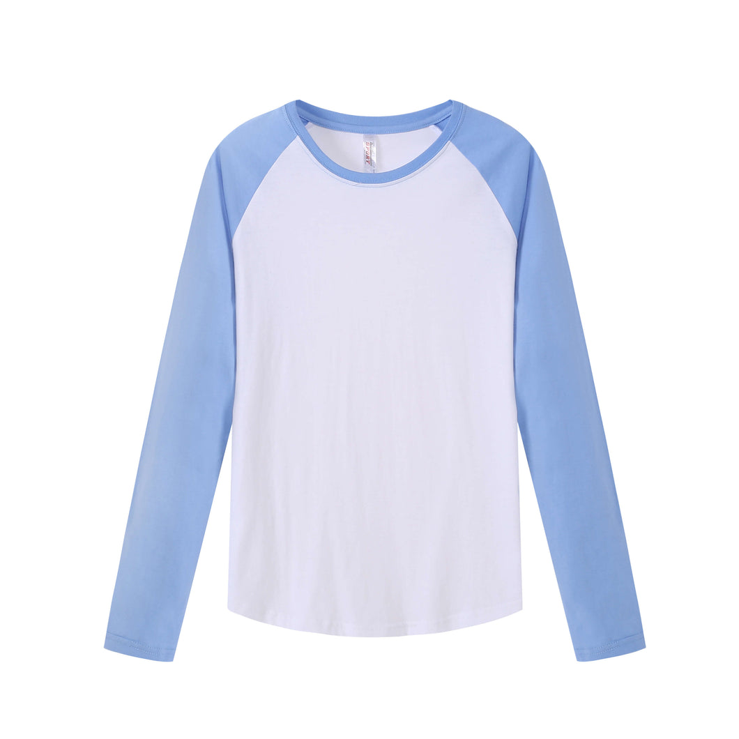 MENS Raglan L/S Top - Sky Blue