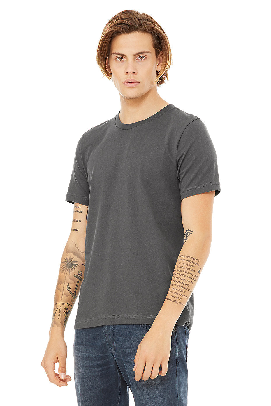 MENS 100% Cotton S/S Tee - Charcoal