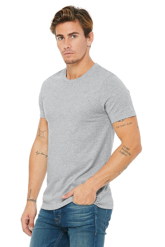 MENS 100% Cotton S/S Tee - Heather Grey