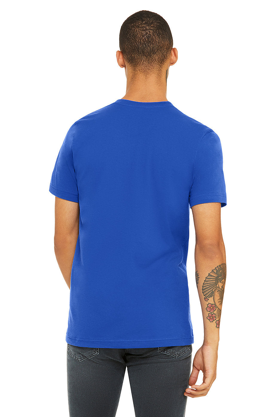 MENS 100% Cotton S/S Tee - Royal Blue