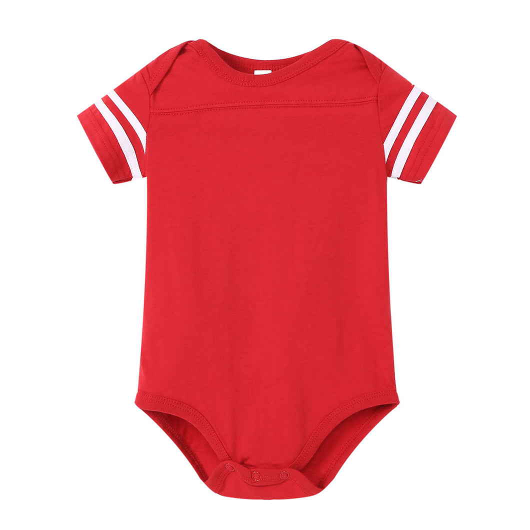 BABY Varsity Game Day S/S Onesie - Red