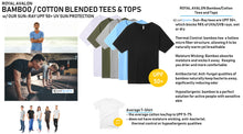 Load image into Gallery viewer, MENS Bamboo Cotton S/S Tee | UPF Protection Shirt - Black