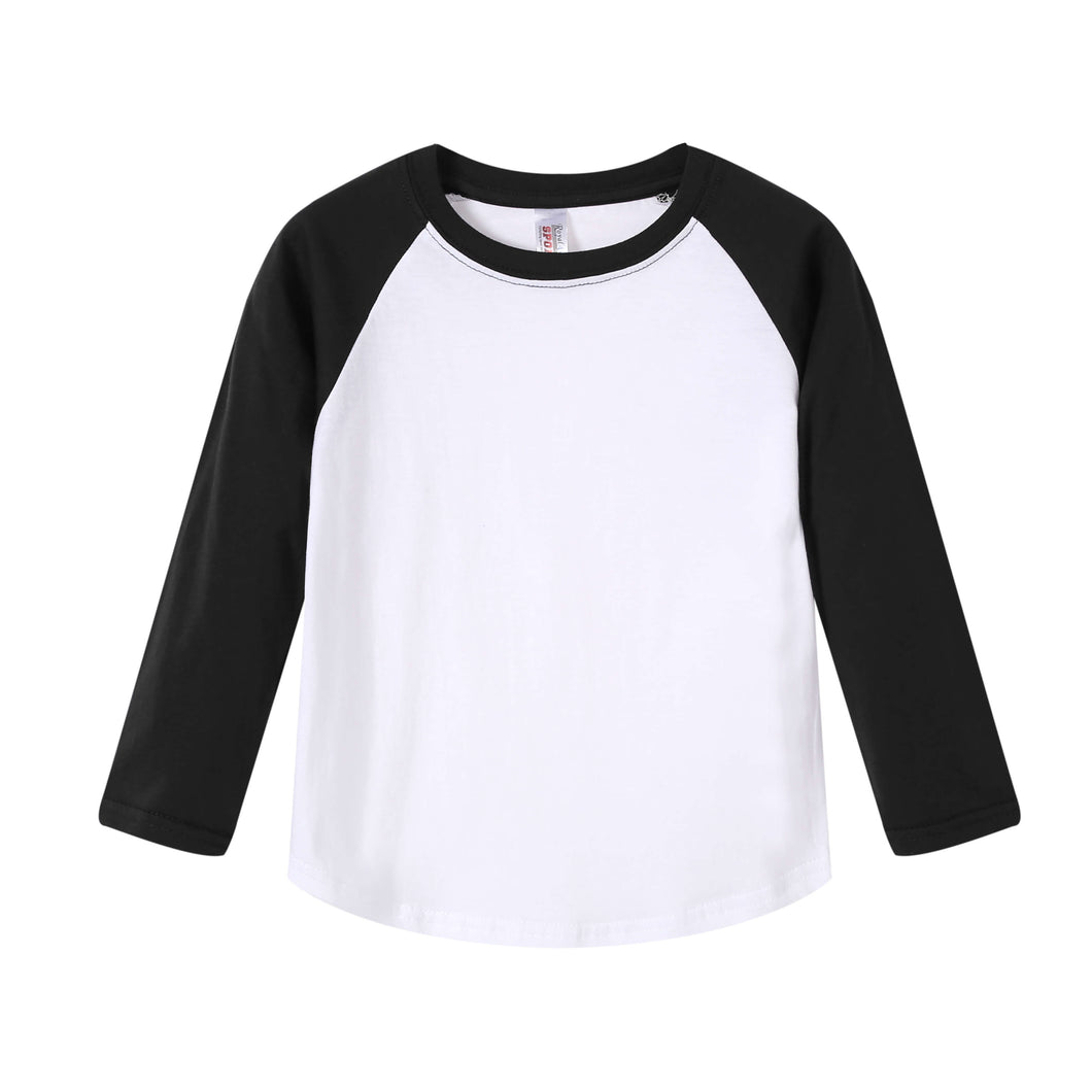 TODDLER Raglan L/S Top Black
