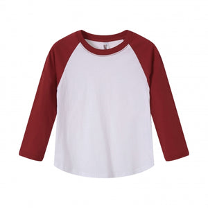 TODDLER Raglan L/S Top  Cardinal