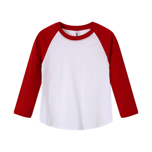 TODDLER Raglan L/S Top  Red