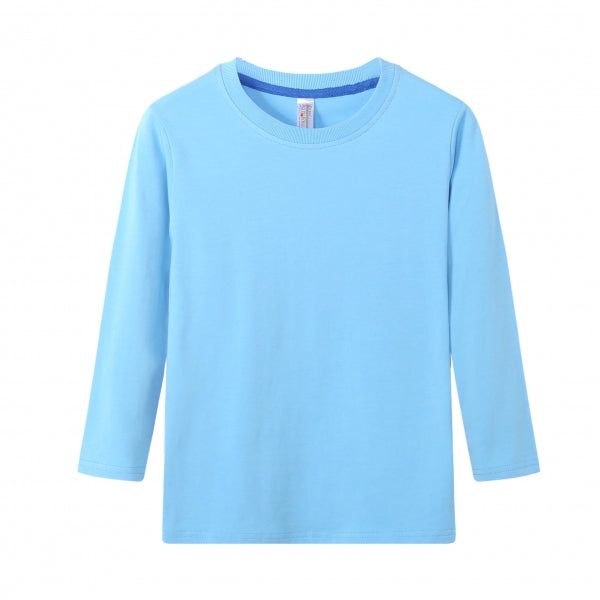 TODDLER Bamboo Cotton L/S Tee | UPF Protection Shirt - French Blue