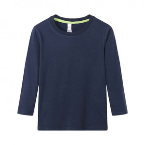 TODDLER Bamboo Cotton L/S Tee | UPF Protection Shirt - Navy