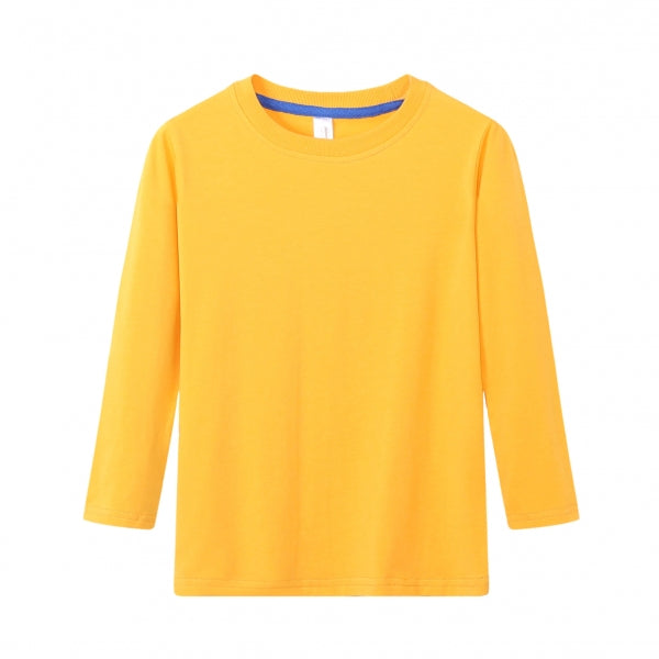 TODDLER Bamboo Cotton L/S Tee | UPF Protection Shirt - Orange