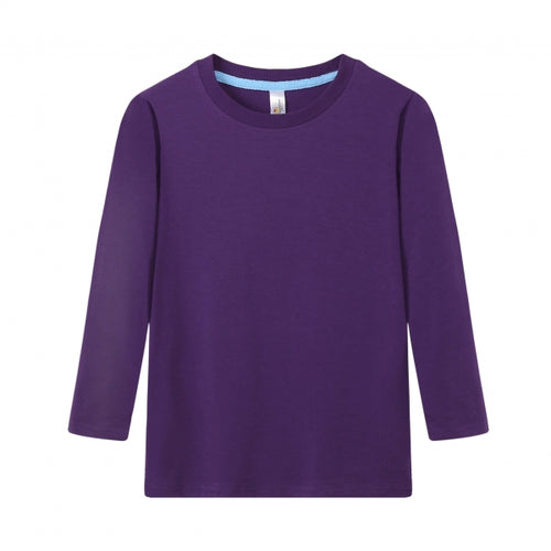 TODDLER Bamboo Cotton L/S Tee | UPF Protection Shirt - Purple