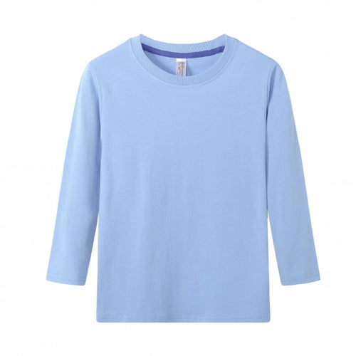 TODDLER Bamboo Cotton L/S Tee | UPF Protection Shirt - Sky Blue