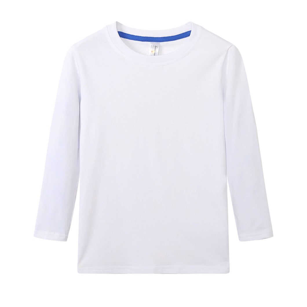 TODDLER Bamboo Cotton L/S Tee | UPF Protection Shirt - White
