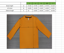 Load image into Gallery viewer, TODDLER Bamboo Cotton L/S Tee | UPF Protection Shirt - Orange