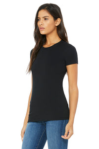 WOMENS 100% Cotton S/S Tee - Black