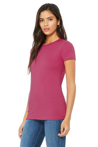 WOMENS 100% Cotton S/S Tee - Fuchsia