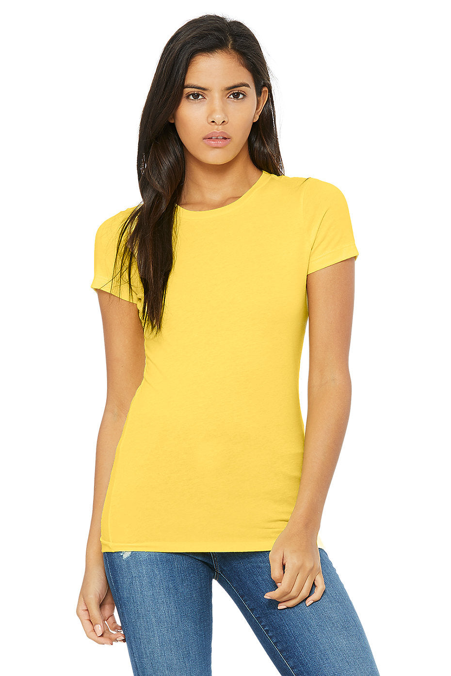 WOMENS 100% Cotton S/S Tee - Golden Yellow