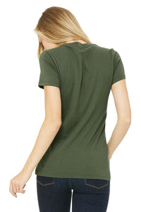 WOMENS 100% Cotton S/S Tee - Khaki Green