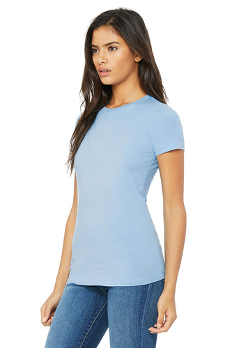 WOMENS 100% Cotton S/S Tee - Sky Blue