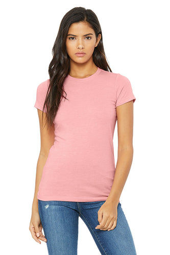 WOMENS 100% Cotton S/S Tee - Soft Rose Pink