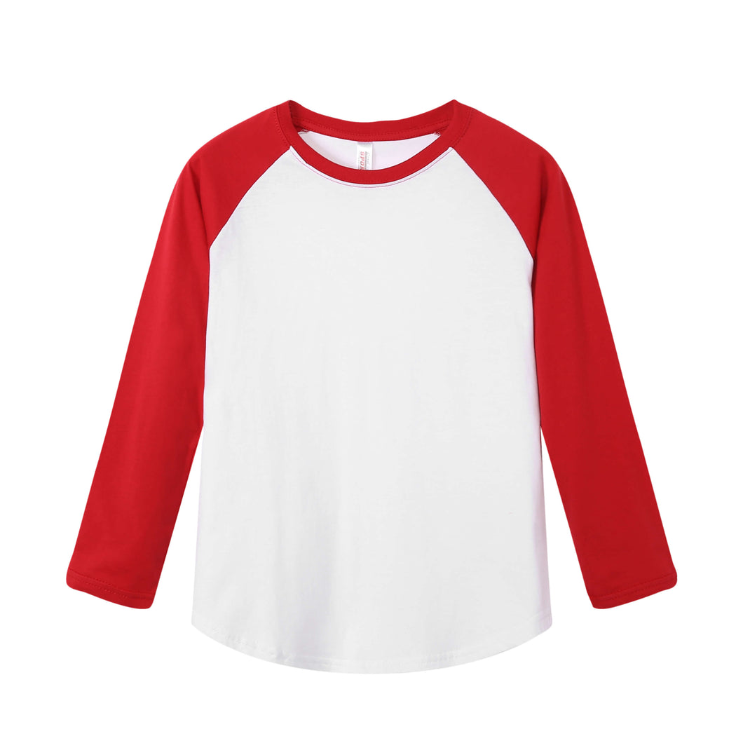 YOUTH Raglan L/S Top - Red