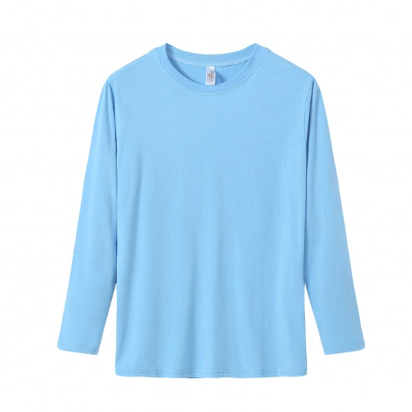 YOUTH Bamboo Cotton L/S Tee | UPF Protection Shirt - French Blue