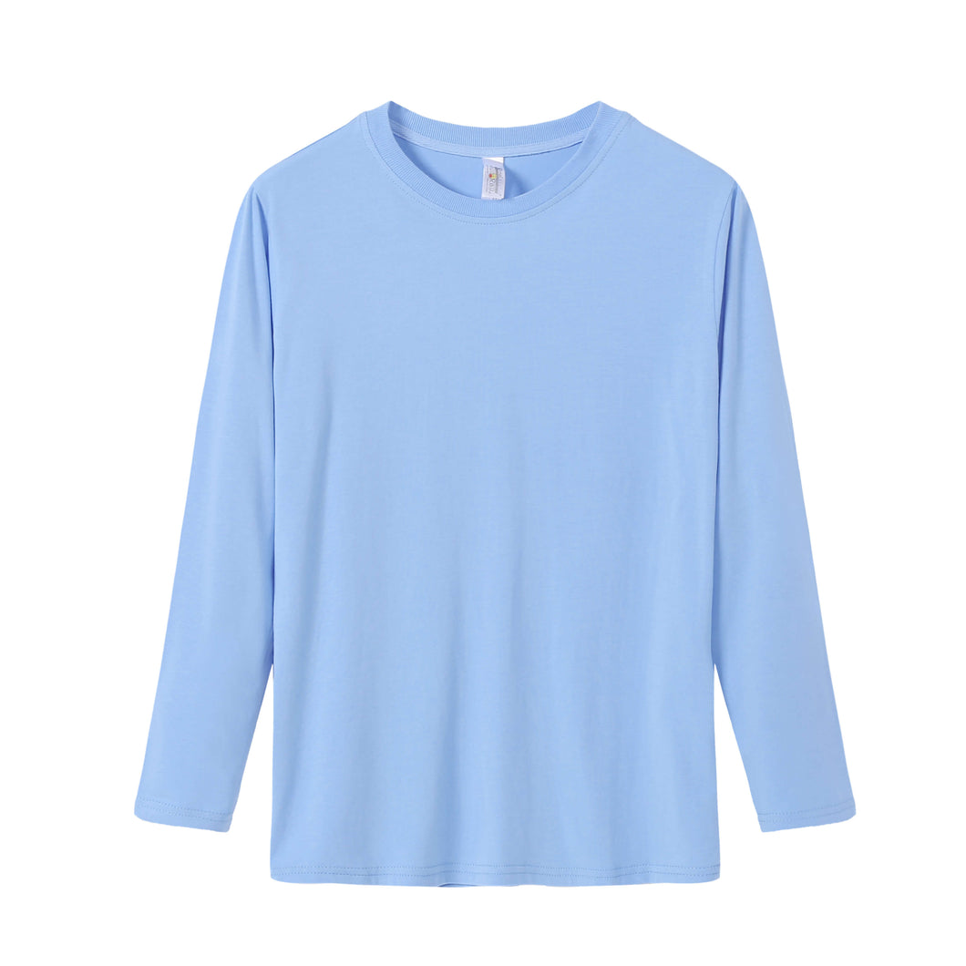 YOUTH Bamboo Cotton L/S Tee | UPF Protection Shirt - Sky Blue