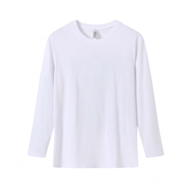 YOUTH Bamboo Cotton L/S Tee | UPF Protection Shirt - White