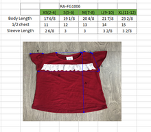 Load image into Gallery viewer, GIRLS S/L Ruffled Top 100% Cotton Red
