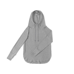WOMENS Bamboo Cotton L/S Hoodie | UPF Protection Shirt - Heather