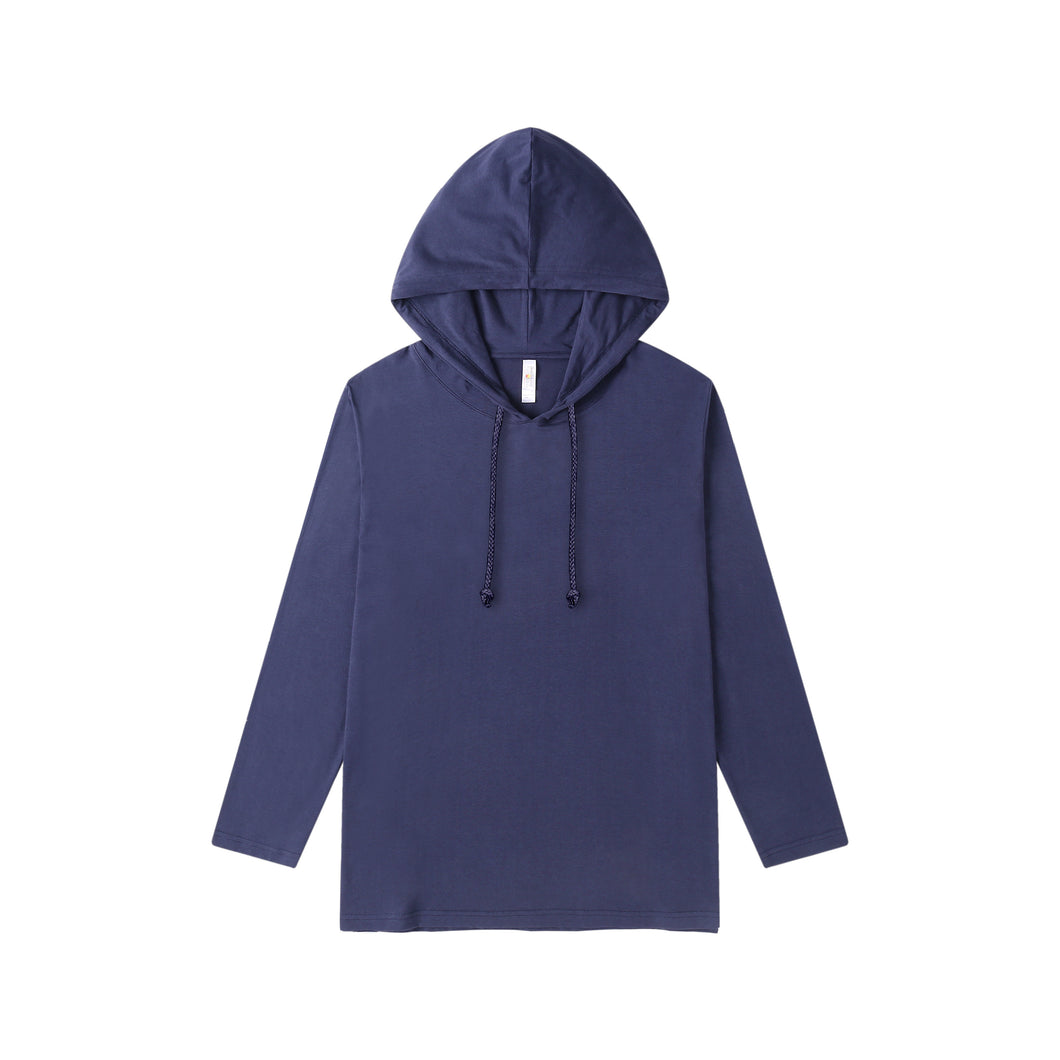MENS Bamboo Cotton L/S Hoodie | UPF Protection Shirt - Navy