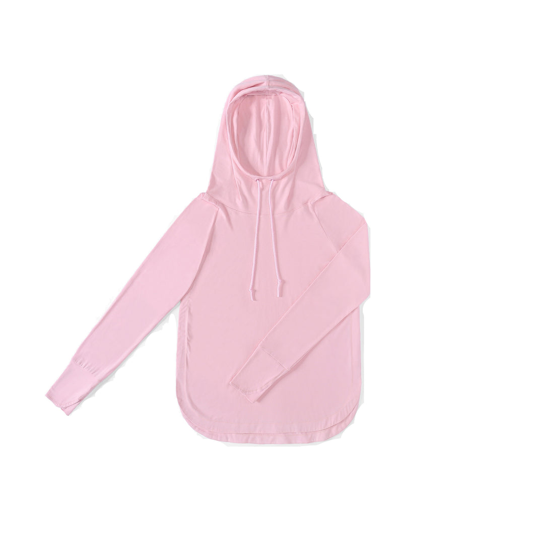 WOMENS Bamboo Cotton L/S Hoodie | UPF Protection Shirt - Pink