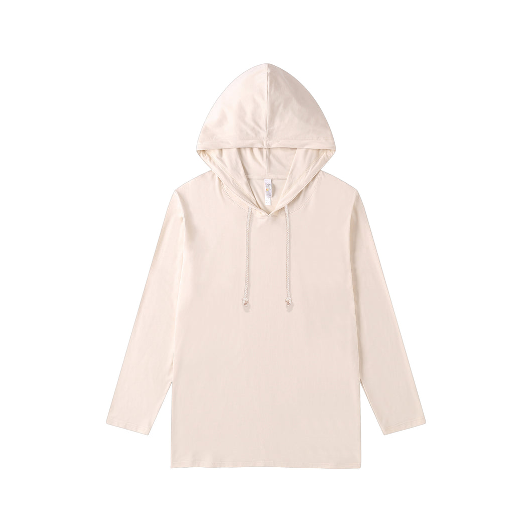 MENS Bamboo Cotton L/S Hoodie | UPF Protection Shirt - Sand