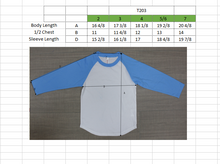 Load image into Gallery viewer, TODDLER Raglan L/S Top  Sky Blue