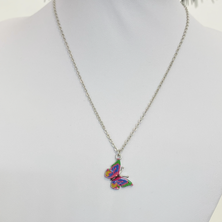 Call Me Multicolor Butterfly Necklace