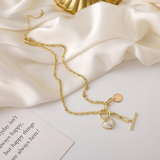Pearl Heart Necklace