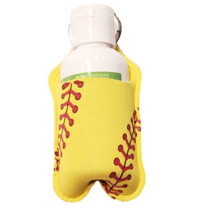 Softball Print Sanitizer Holder