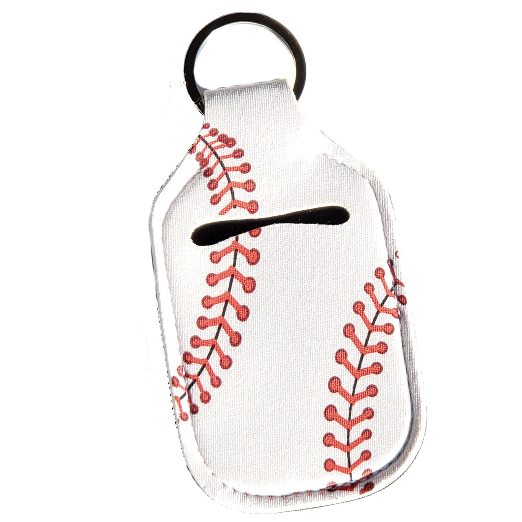 Baseball Print Hand Sanitizer Holder