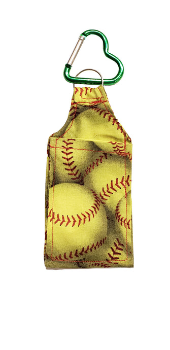 Yellow Softball Sanitizer Holder