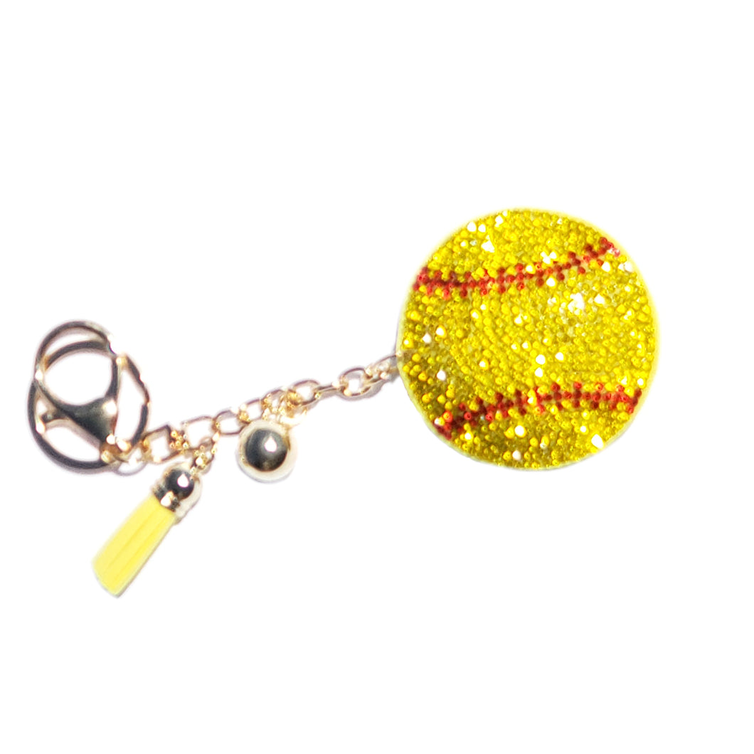 Bling Keychains Softball & Baseball