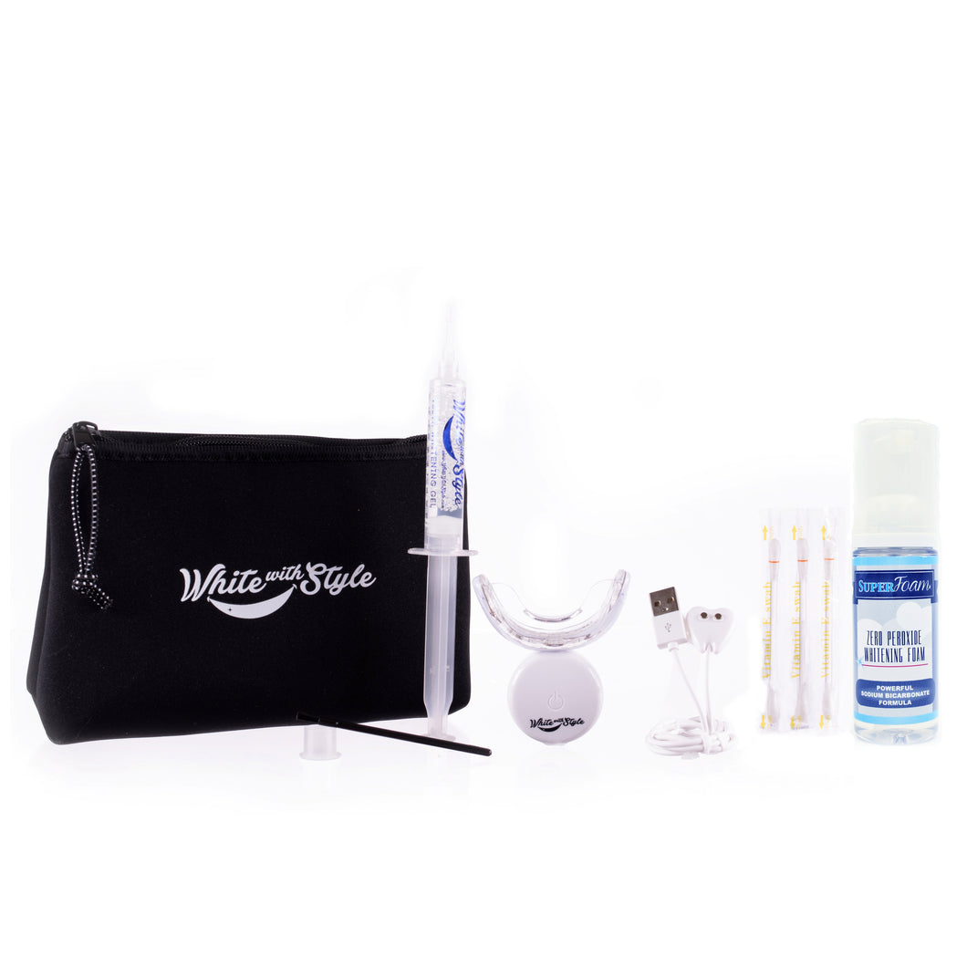 Stellar White Advanced Teeth Whitening Kit PLUS Zero Peroxide Whitening Foam