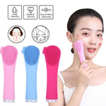 Ultrasonic electric silicone cleansing instrument